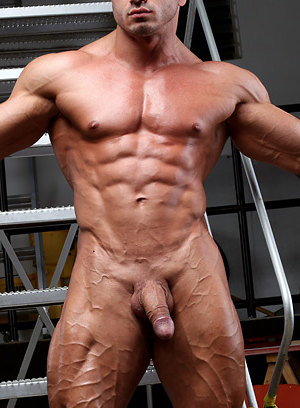 Laurent LeGros shows off his muscular body