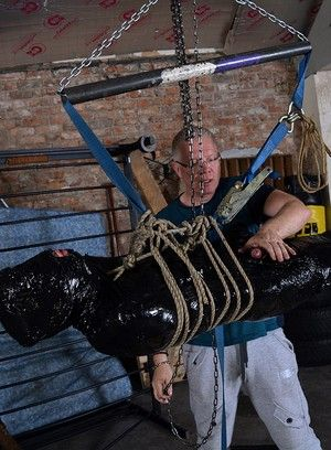 Xavier Sibley, Sebastian Kane, Handjob, Bondage, Fetish, Domination, Masturbation, Blindfold, Rope, Suspension