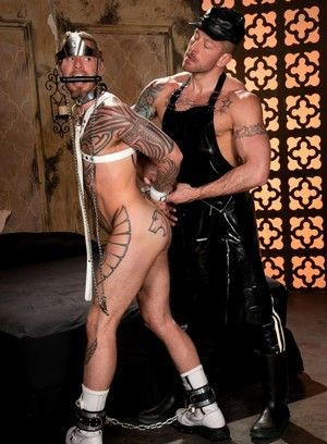 bdsm cbt hugh hunter logan mccree oral restraints