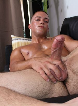 Scotty Dickenson shows off his hard cock