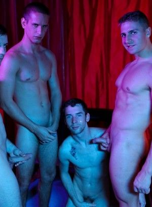 Jacques LaVere, Logan Vaughn, Doug Acre and Tripp Townsend fuck each other