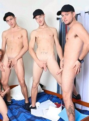 AJ Monroe, Shane Jacobs, Bobby Hudson, Leo Carden, Big Muscles, Fraternity, Oral, Orgy