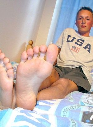 blonde foot fetish masturbation twink