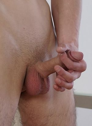 Tim Law strokes his hard cock