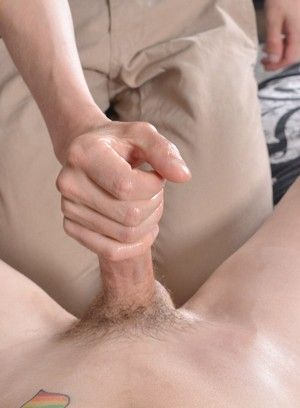 bondage handjob red head slim twink