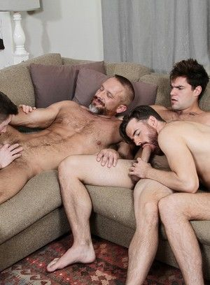Dennis West, Aspen, Dirk Caber and Brendan Patrick fuck each other