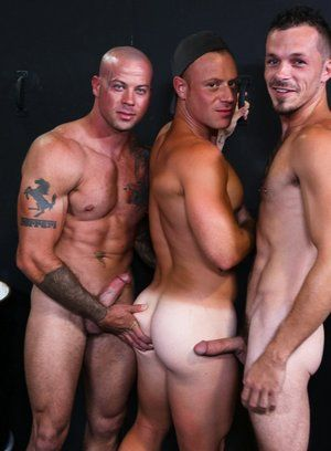 anal sex bald big dick jimmie slater muscle men pornstar saxon west sean duran threesome