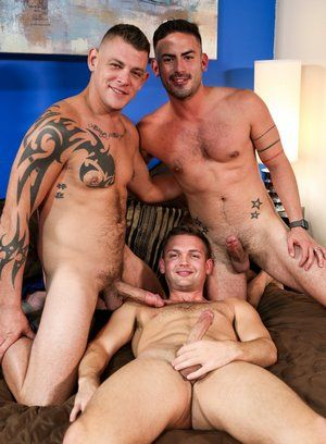Jace Chambers and Cesar Rossi fucks Conner Mason