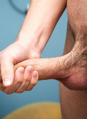 Hunter Page playing with his cock