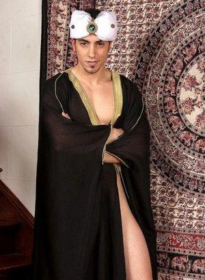 Muzzafar shows off his body
