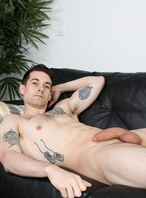 Ryan Rook plays with his cock