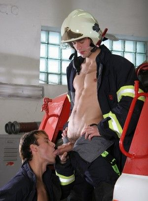 Trainee Firemen Practice On The Meat Hose