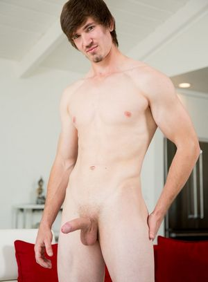 Tyler Kodiak plays with his cock