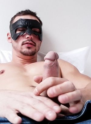 Jerkoff plays with his cock