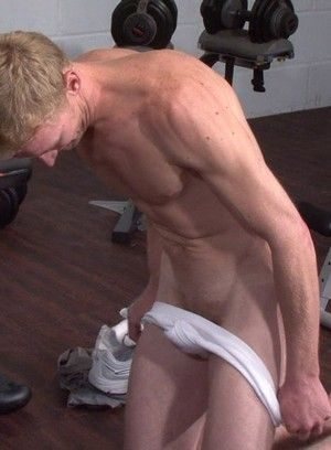 Workout session with fetish beatings
