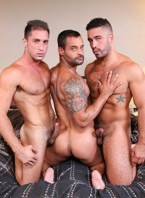 Trey Turner, Armando De Armas, David Benjamin, Anal Sex, Big Dick, Blowjob, Jerking off, Rimming, Threesome