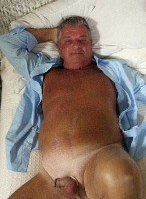 Warren Bucks shows off his fat cock