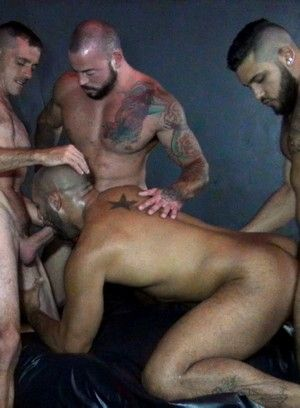 Mario Cruz, Brett Bradley, Sean Duran and Leo Forte fuck each other