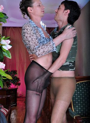 Horatio and Jack pantyhose worshiping couple