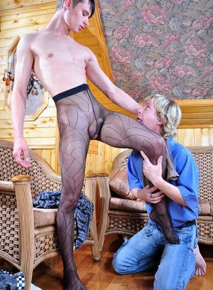 Hubert and Silvester homoerotic pantyhose couple
