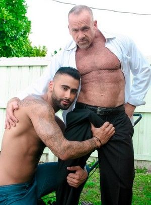 Rikk York, Mickey Collins, Anal Sex, Beefy, Interracial, Mature, Outdoor