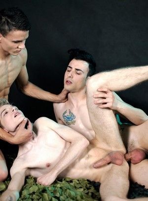 Erik Franke, Timmy Treasure and Xander Rex fuck each other