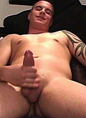 Dom strokes his big cock
