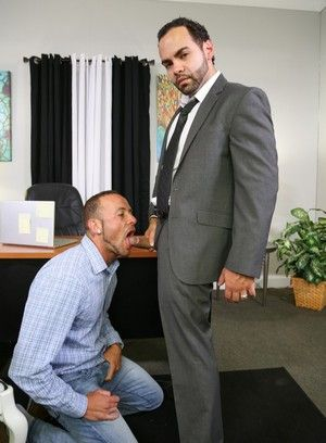 Marxel Rios, Alejandro Fusco, Anal Sex, Beefy, Blowjob, Condom, Latino, Mature, Office