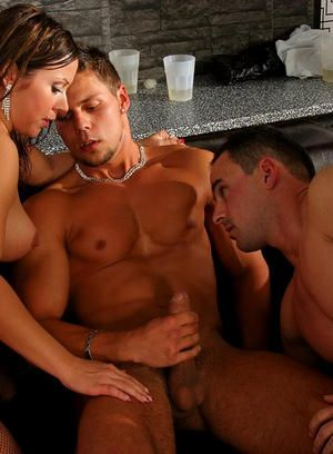 Well hung bisexuals stuffing their butts with cock