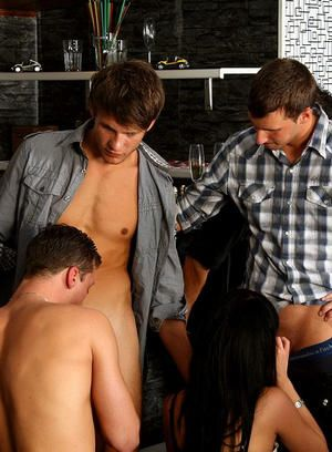 Hot bisexual studs and hot babes getting ass banged