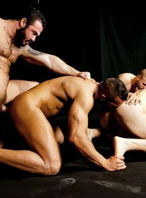 Queer lads fucked mouth-to-ass and DPed raw