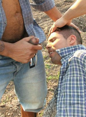 Twink gets hammered by big cowboy cocks