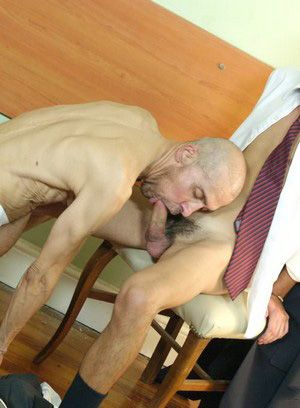 Mature boss loves drilling this boy's asshole