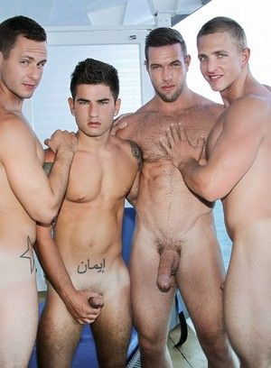 Brenner Bolton, Alex Mecum, Landon Mycles and Vadim Black fuck each other