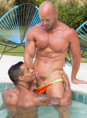 anal sex david benjamin kissing mitch vaughn muscle men oral outdoor poolside sex pornstar
