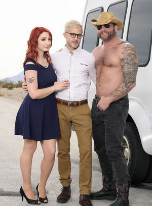 Violet Monroe, Sherman Maus and Colby Jansen suck and fuck