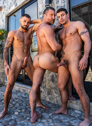 Tomas Brand, Jeffrey Lloyd and Jesse Santana suck and fuck