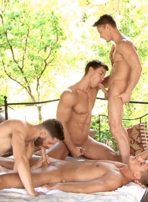 Tommy Defendi, Kris Evans, Blowjob, Anal, Group Sex, Outdoors