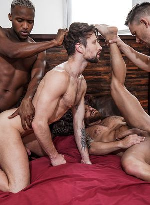 Andrey Vic and Andre Donovan fucks Riley Mitchel and Drew Dixon
