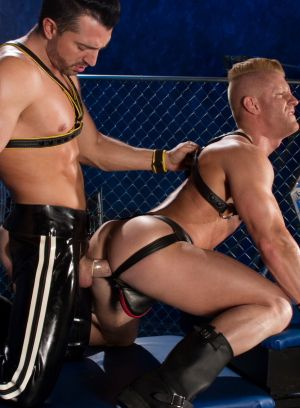 Jimmy Durano, Johnny V, Anal Sex, Jockstrap, Leather Fetish, Muscle Men, Oral Sex, Rimming