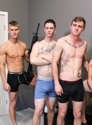 Ryan Jordan, Phoenix River, Blake Effortley and Logan Lane suck and fuck
