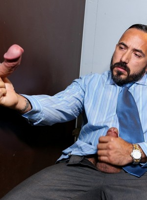 Alessio Romero, Andrew Justice, Anal Sex, Beefy, Blowjob, Daddy, Glory Hole, Oral