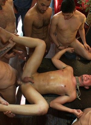 Kris Anderson gets tied up, beaten and gangbanged