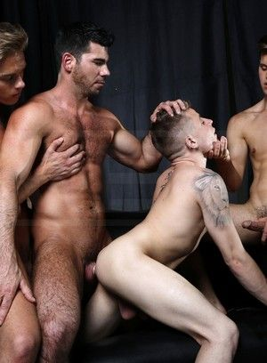 Billy Santoro, Felix Warner, Joey Cooper and Max Leo fuck each other