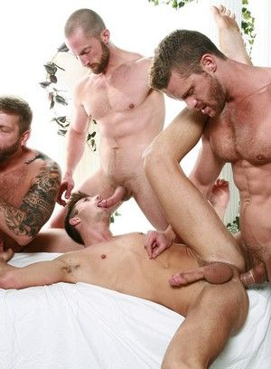 Colby Keller, Colby Jansen, Adam Herst, JD Phoenix and Landon Conrad fuck each other