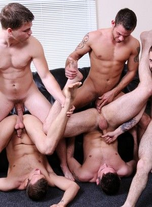 Connor Patricks, Cooper Reed, Duncan Black, Jimmy Johnson and Josh Long fuck each other