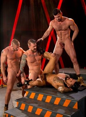 Hunter Marx, Boomer Banks, Billy Santoro and Rocco Steele fuck each other