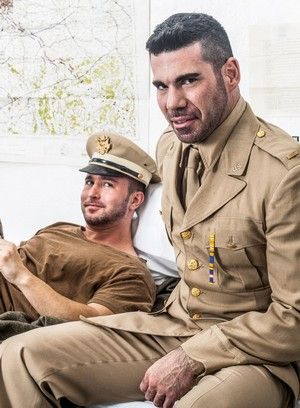 Billy Santoro, Colt Rivers, Anal, Hairy Guys, Muscular Guys, Safe Sex, Soldier