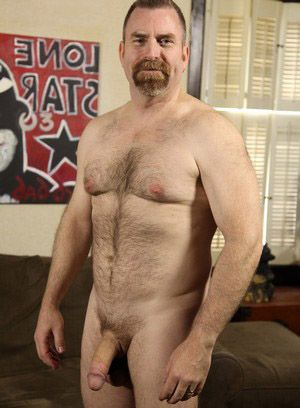 David Teal shows off his hard cock