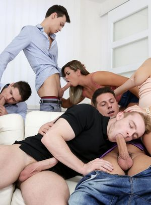 Nick Gill, Angel Wicky, Charlie Dean, Alessandro Katz and Tomas Fuck suck and fuck